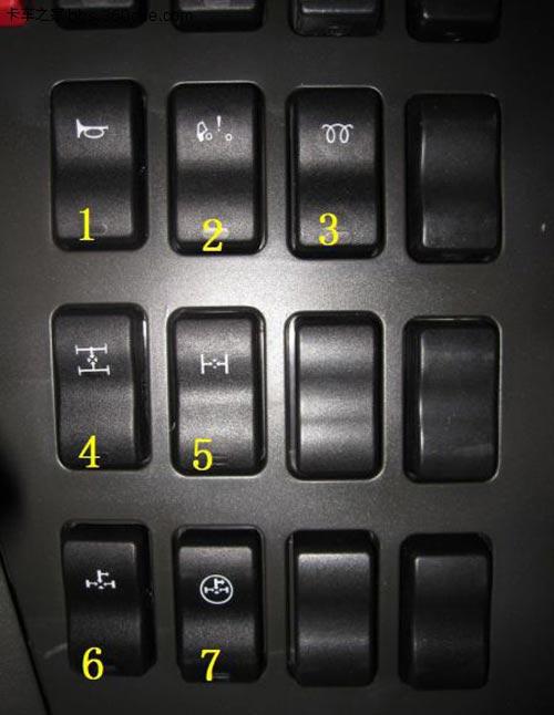 解放j6駕駛室按鈕