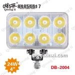 24W 货车LED工作灯 /聚光4寸方灯 琼丽大功率