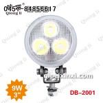 9W 货车LED工作灯聚光3寸小太阳 琼丽大功率